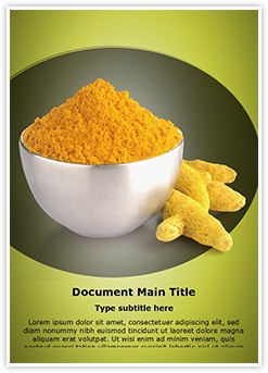 Turmeric Powder Editable Word Template