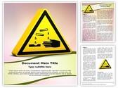 Corrosive Sign Template