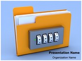 Folder Lock Editable PowerPoint Template