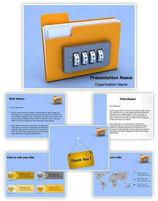 Folder Lock Editable 3D PPT Template