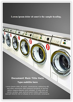 Laundromat Editable Word Template