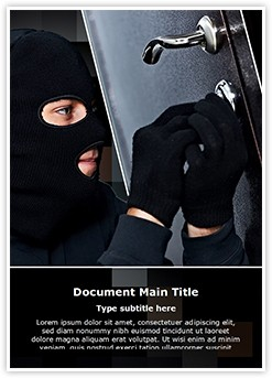 Burglar Editable Word Template