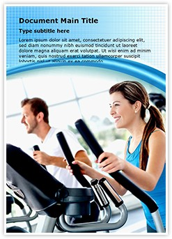 Work Out At Gym Editable Word Template