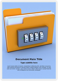 Folder Lock Editable Word Template