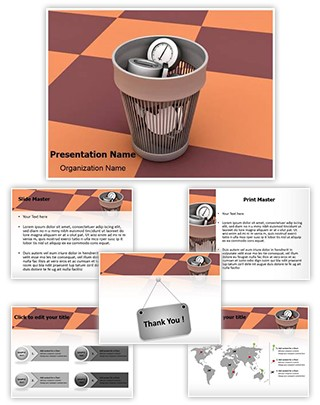 Time Wastage Editable 3D PPT Template