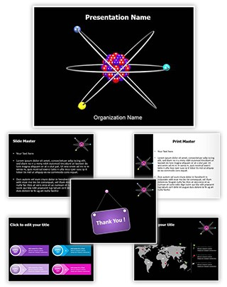 Atom Structure Editable 3D PPT Template