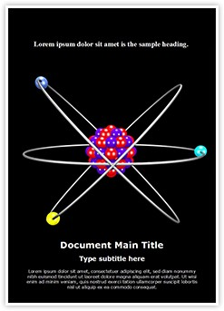 Atom Structure Editable Word Template