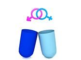 Gender Symbol Pill Media