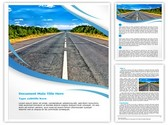 Isolated Road Editable Word Template