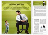 Small Big Businessman Template