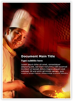Cooking Editable Word Template