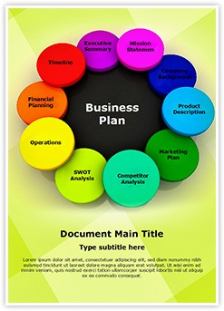 Business Plan Editable Word Template