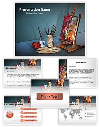Canvas Painting Editable PowerPoint Template