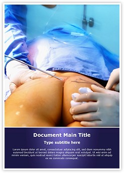 Coccygectomy Editable Word Template