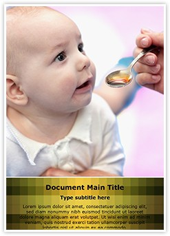Baby Taking Medicine Editable Word Template