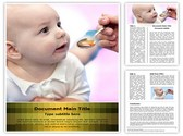 Baby Taking Medicine Template
