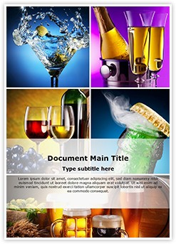 Alcohols Editable Word Template