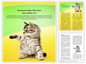 Kitten Editable Word Template