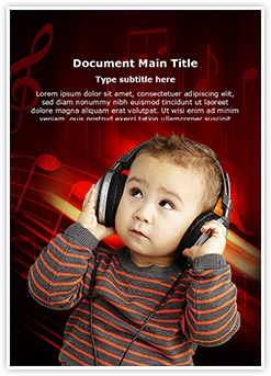 Child and Music Editable Word Template