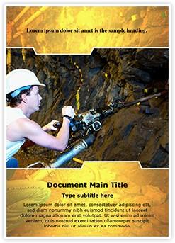 Coal Miner Editable Word Template