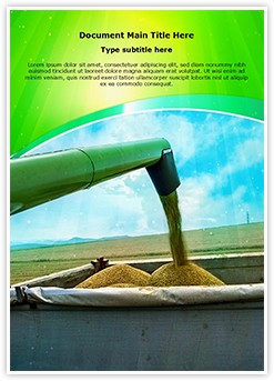 Agricultural Equipments Editable Word Template