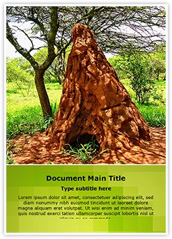 Ant Colony Editable Word Template