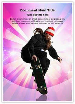 Skateboarding Editable Word Template
