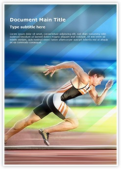Sports Editable Word Template