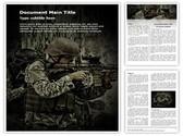 War Editable Word Template
