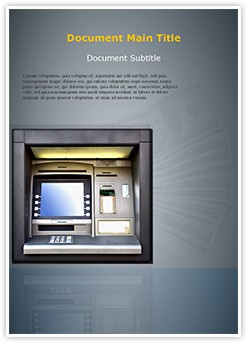Automated teller machine Editable Word Template