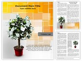 Plant with Dollars Editable Word Template