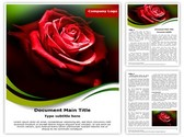 Red Rose in Dark Template