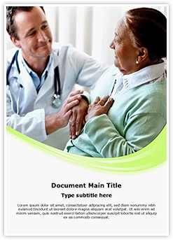 Senior Woman and Doctor Editable Word Template