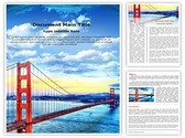 Golden Gate Bridge Template