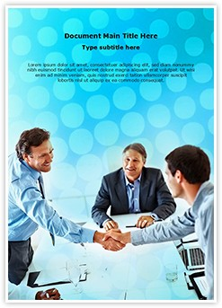 Business deal Editable Word Template