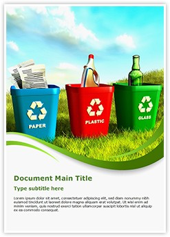 Recycling Editable Word Template