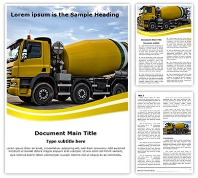 Concrete Truck Editable Word Document Template