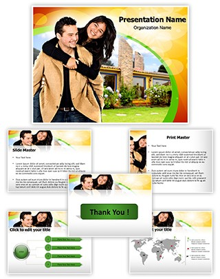Couple And Real Estate Editable PowerPoint Template