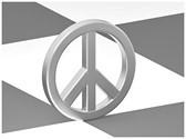 Peace Love Symbol Template