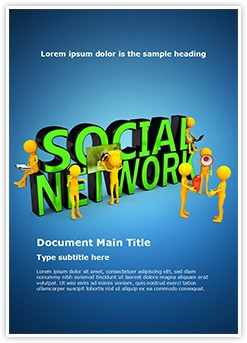 Social Network Editable Word Template