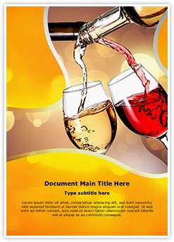 Pouring Wine Editable Word Template