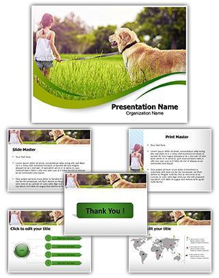 Dog Editable PowerPoint Template