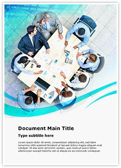 Business Meeting Editable Word Template