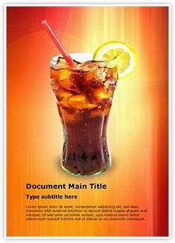 Coca Cola Editable Word Template