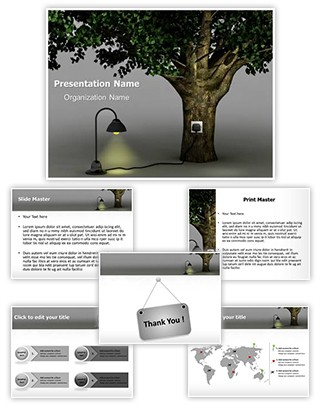 Natural Energy Editable 3D PPT Template