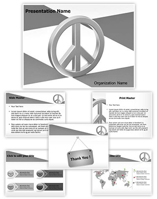 Peace Love Symbol Editable 3D PPT Template