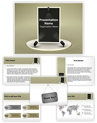 Advertisement Board Editable 3D PPT Template