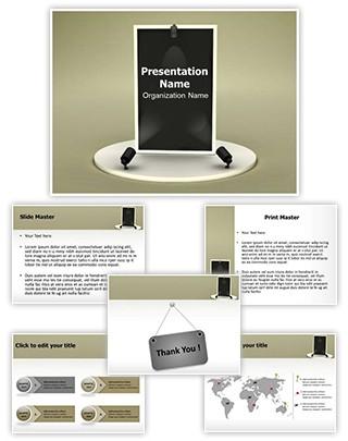 Advertisement Board Editable 3D PPT Template