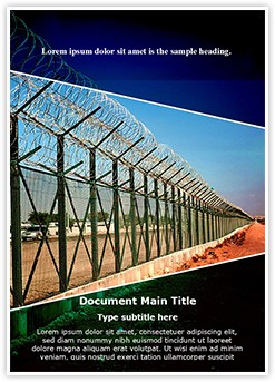 Border Security Editable Word Template