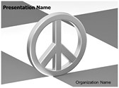 Peace Love Symbol Editable PowerPoint Template